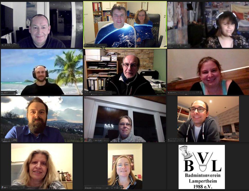 Mitgliederversammlung 2021 des BVL - Entspannte Stimmung beim Online-Meetin